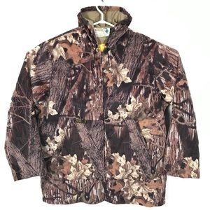 Vintage Golden Retriever Camouflage Hooded Jacket